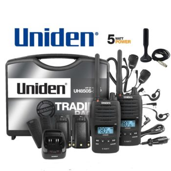 Uniden UH850S-2TP Twin Tradie Pack