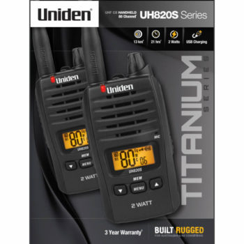 Uniden UH820S-2 Twin Pack