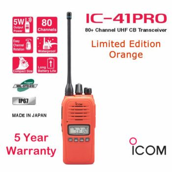 ICOM IC-41Pro Orange 5 Watt Waterproof UHF