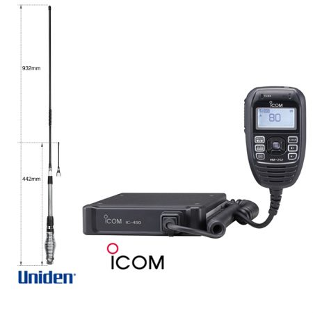ICOM IC-450 Uniden AT-880