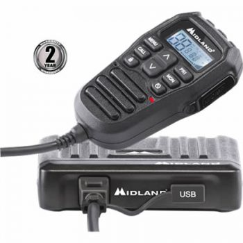 Midland ML802 compact UHF CB Radio with remore speaker Mike