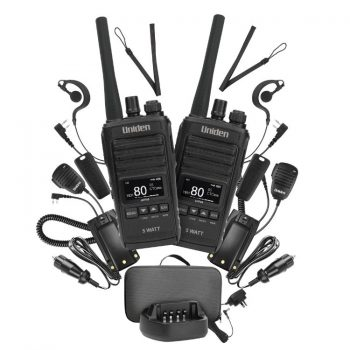 Uniden UH755-2DLX UHF Handheld Twin Deluxe Pack